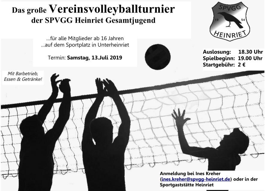 Plakat Volleyball 2019